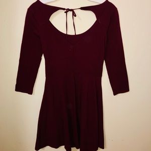 AE burgundy dress